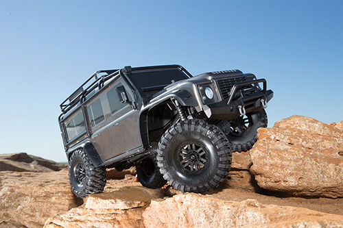 Traxxas TRX-4 1/10 4WD RTR Land Rover Defender Body Scale & Trail Crawler w/ TQi Traxxas Link #82056-4