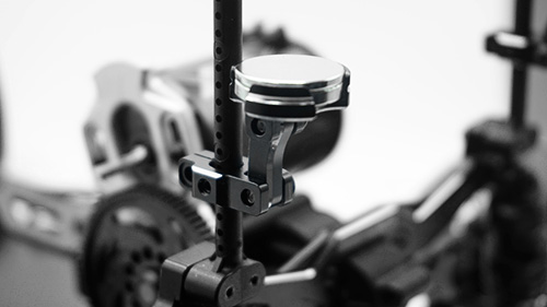 Yeah Racing Aluminium CNC Magnetic Invisible Body Mount 2pcs Black #YA-0531BK