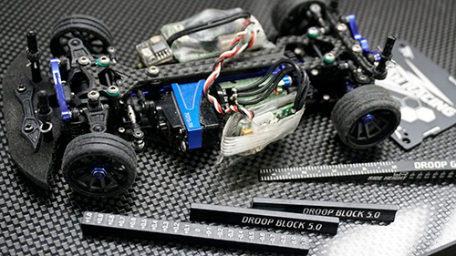 Yeah Racing Aluminum Chassis Set Up Tool Kit w/ Camber Gauge For 1/27 1/28 Mini-Z #YT-0175