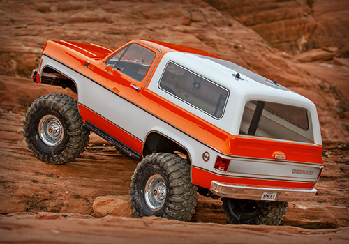 Traxxas TRX-4 1979 Chevrolet K5 Blazer Body Red 1/10 4WD Trail Crawler Truck RTR w/ TQi Traxxas Link 2.4GHz Radio #82076-4RED