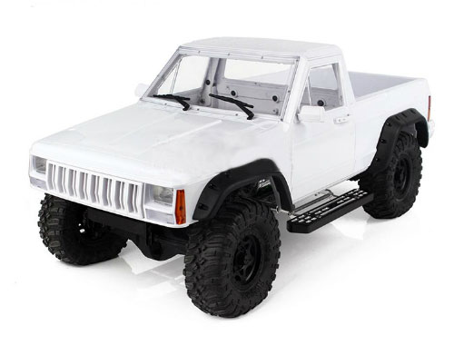 Xtra Speed Cherokee XJ ABS Pickup Truck Hard Plastic Body Kit 313mm w/ Interior Kit For Axial RC4WD #XS-59788