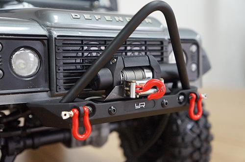 Yeah Racing Aluminum Alloy Front Bumper w/ LED Light For Axial SCX10 II Traxxas TRX-4 #YA-0548