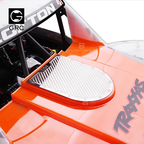 GRC Stainless Steel Front Hood Diamond Plate Set Silver For Traxxas UDR Unlimited Desert Racer #GAX0096U