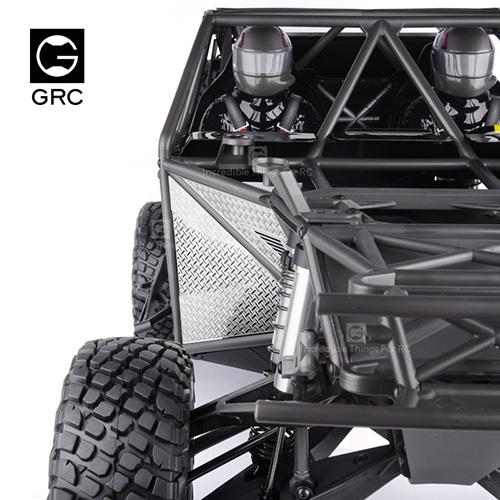 GRC Stainless Steel Front Fender Diamond Plate Set Silver For Traxxas UDR Unlimited Desert Racer #GAX0096T