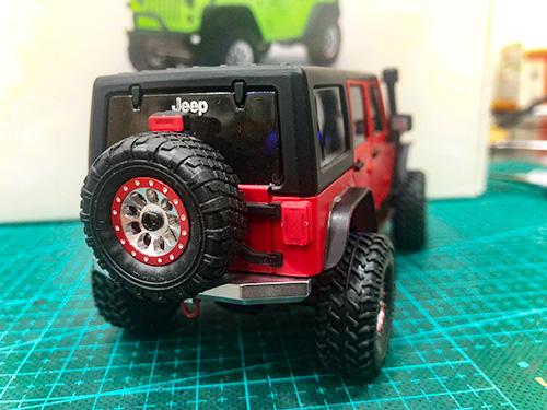 Xtra Speed Aluminum XTO Wheel w/Brake Rotor 4 Pcs For Orlandoo Car Kit #XS-59845BK