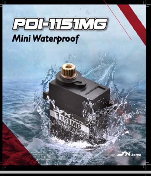 JX Servo Waterproof Core Metal Gear 3.6KG 0.1s 6V Digital High Quality Mini Servo #PDI-1151MG