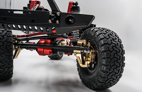 Xtra Speed Brass Hi Lift Portal Front Steering Knuckle Set For AXIAL SCX10 II #XS-SCX-FBX