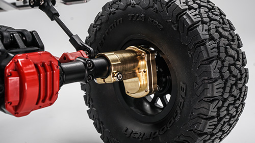 Xtra Speed Brass Hi Lift Portal Front Steering Knuckle Set For AXIAL SCX10 II #XS-SCX-FBX