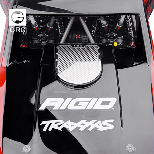 GRC Stainless Steel Front Hood Diamond Plate Set Silver For Traxxas UDR Unlimited Desert Racer #GAX0096U