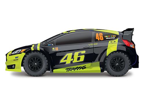 Traxxas Ford Fiesta ST RTR 1/10 4WD Rally Car VR46 Version w/ TQ 2.4GHz Radio, XL-5 ESC #74064-1 VR46